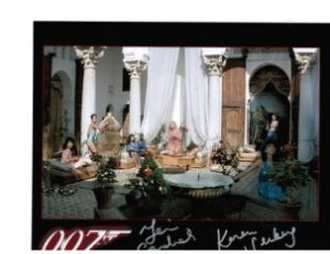 James Bond Living Daylights 2 Bond girls autographs 2